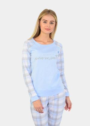 пижама в клетку женская