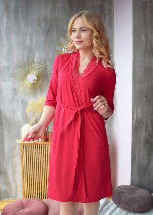 халат красный