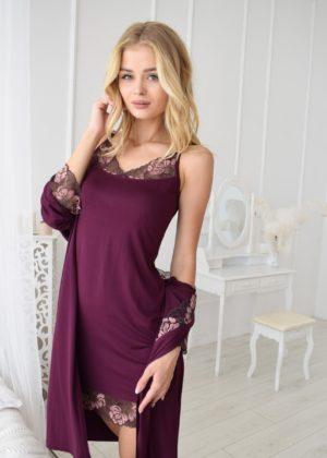 сорочка и халат в комплекте