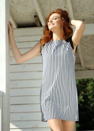 купить летнее платье в полоску N.EL