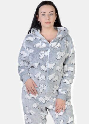 Теплый женский комбинезон кигуруми
