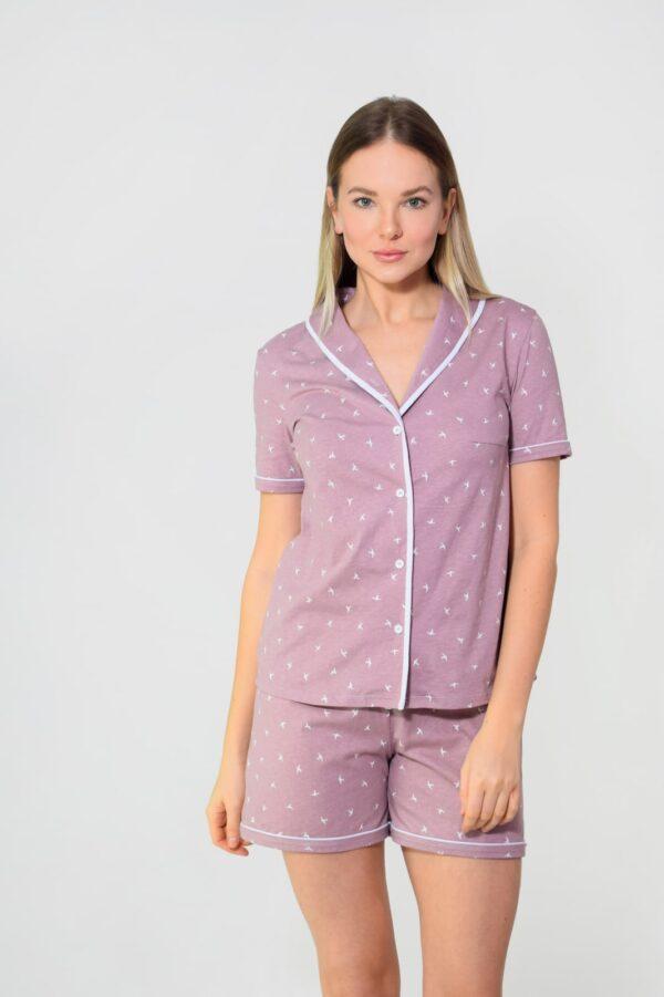 пижама женская на пуговицах